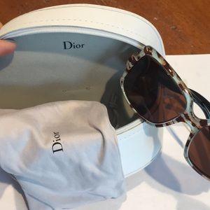 Dior Accessories - NEW Dior Retro 60's Animal Print Sunglasses & Case